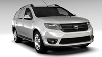 Dacia Logan MCV Fiskal 2016 3D Model
