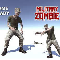 Military zombie 3D Model