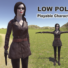 Spy woman 3D Model