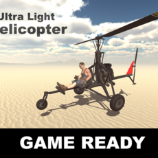 Ultra light helicopter 3D Model