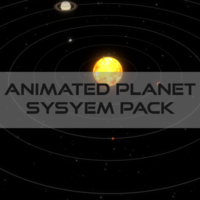 Animated Planet Pack 3D Model