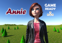 Annie cartoon woman 3D Model