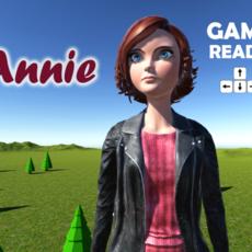 Annie cartoon woman 3D Model