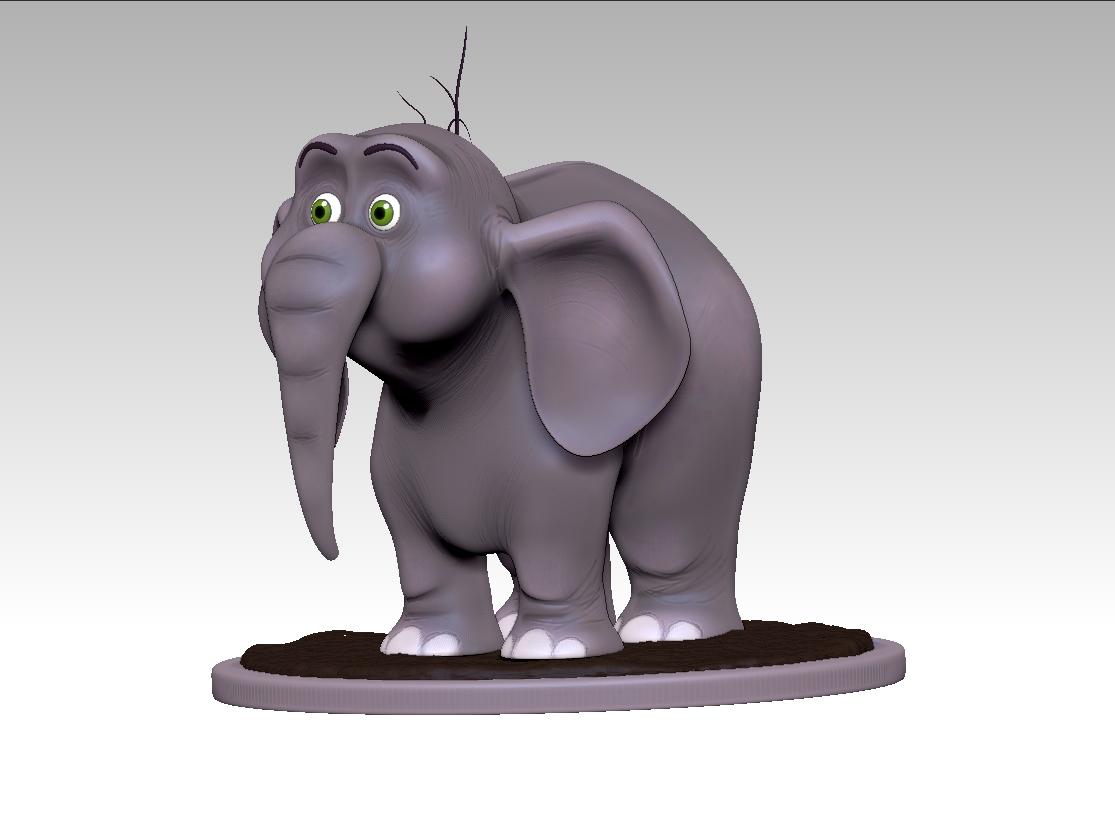 elephant cartoon 3d model