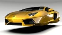 Lamborghini Aventador Flying 2017 3D Model