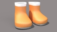 Cartoon Boots 3D Model