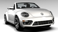 VW Beetle Cabriolet 2017 3D Model