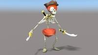 Cartoon Pirate Skeleton 3D Model