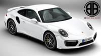 Porsche 911 Turbo S 2017 3D Model