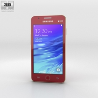 Samsung Z1 Wine Red Phone 3D Model