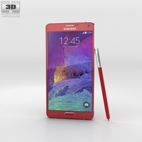 Samsung Galaxy Note 4 Velvet Red Phone 3D Model