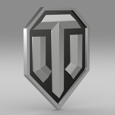World of tanks logo 3D Model
