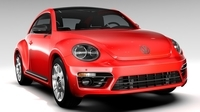 VW Beetle Turbo 2017 3D Model