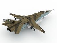 Sukhoi Su-24  fencer Argelian Scheme 3D Model