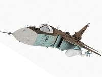Sukhoi Su-24 Fencer Irak Scheme 3D Model