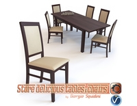 Chair SYLWEK1ECO & Table ERNEST dining set Halmar 3D Model