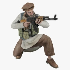 Pakistani Soldier Animated 3D Model