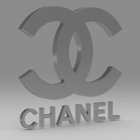 Chanel logo 3D Model