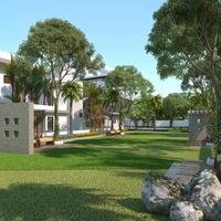04 29 54 971 3d residential house garden view design oakland usa cover