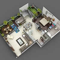 05 38 29 908 3d luxurious home floor plan cover