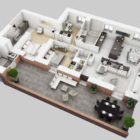 05 38 47 556 3d residential house floor plan cover