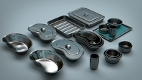 Bowls, Trays - Vessels Stainless Steel 3D Model