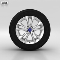 Ford Kuga Wheel 17 inch 004 3D Model