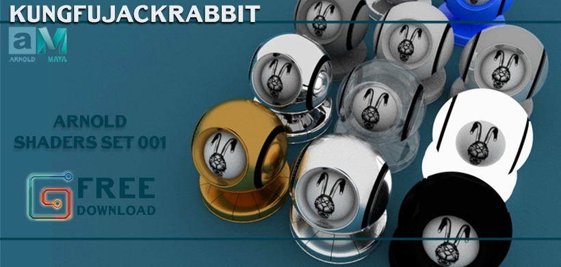 Kungfujackrabbit Arnold Shaders Set for Maya - Free Shaders