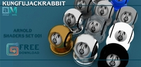 Free Kungfujackrabbit Arnold Shaders Set for Maya 0.0.1
