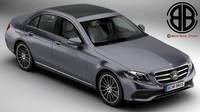 Mercedes E Class Avantgarde 2017 3D Model