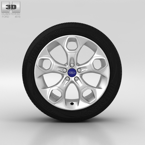 Ford Kuga Wheel 19 inch 001 3D Model