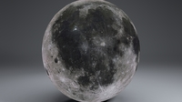 MoonGlobe 8k 3D Model