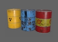 Free Oil Barrel PBR 3D Model