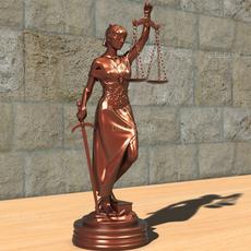 Statue Justice Themis 3D Model