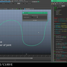 Rig NURBS curve / cable for Maya 1.0.0 (maya script)