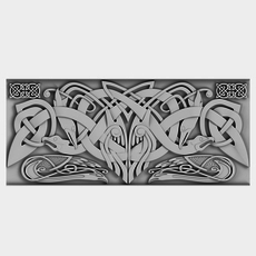 Celtic Ornament 02 3D Model