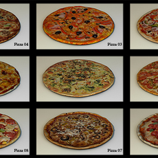 11 pizza pack HP 3D Model