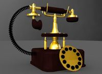 Classic Telephone 3D Model
