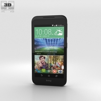 HTC Desire 320 Vanilla White 3D Model