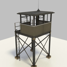 Military Watchtower - textured 3D Model