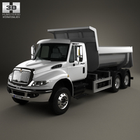 International DuraStar Dump Truck 3-axle 2002 3D Model