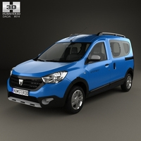 Dacia Dokker Stepway 2014 3D Model