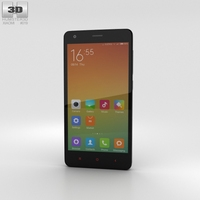 Xiaomi Redmi 2 Black Phone 3D Model