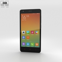 Xiaomi Redmi 2 White Phone 3D Model
