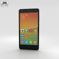 Xiaomi Redmi 2 Yellow Phone 3D Model