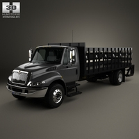 International DuraStar Flatbed Truck 2002 3D Model
