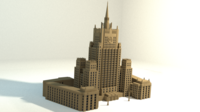 Russian MFA building 3D Model