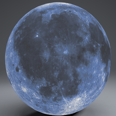 Blue MoonGlobe 11k 3D Model
