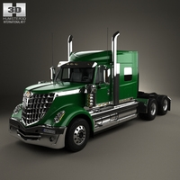 International LoneStar Tractor Truck 2008 3D Model