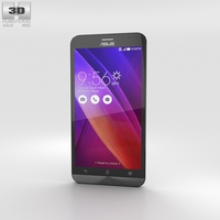 Asus Zenfone 2 Glacier Gray Phone 3D Model